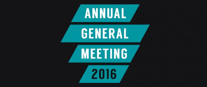 Annual General Meeting 23/5/16